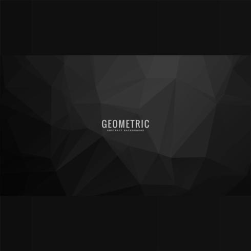 Fundo poligonal geométrico cinza escuro