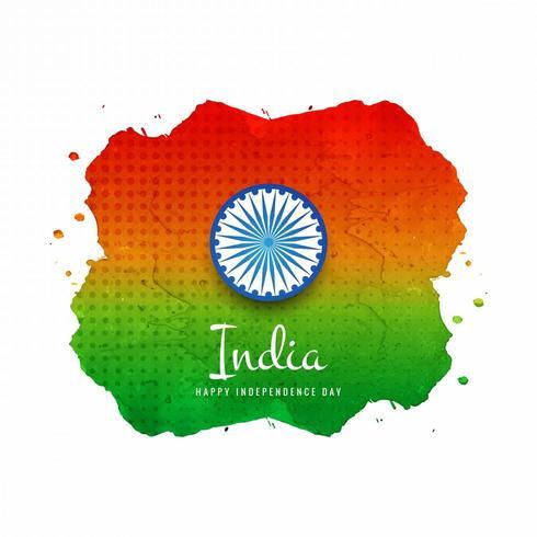 Sfondo bandiera indiana dell'acquerello
