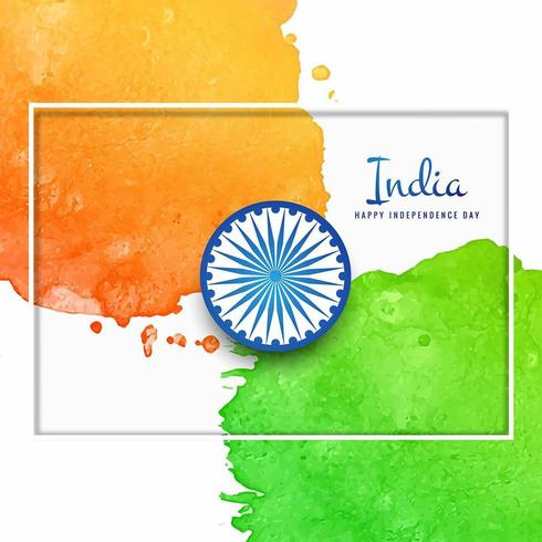 Fondo de bandera India acuarela