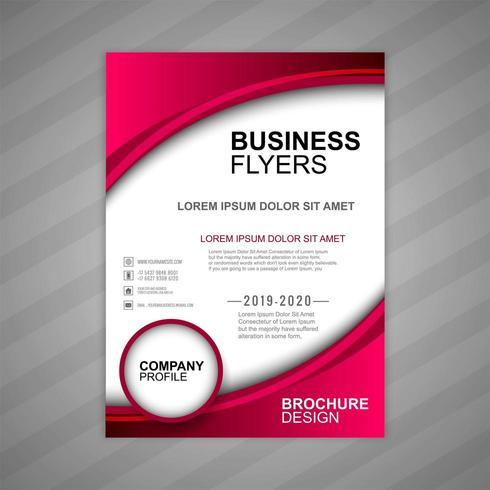 modello di onda brochure aziendale vettore