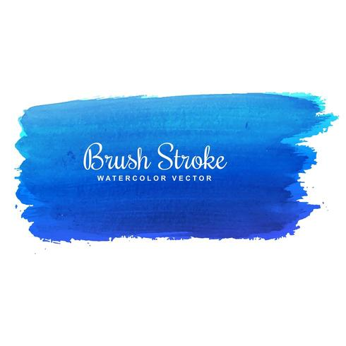 blue watercolor brush stroke design vector