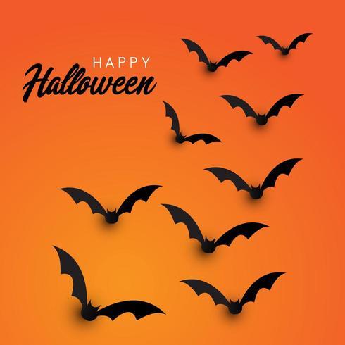 Halloween bats background vector