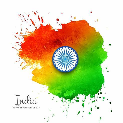 Watercolor Indian Flag splash