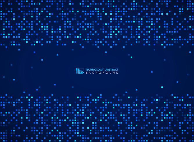 Patrón de bits de cuadrícula cuadrada azul moderno