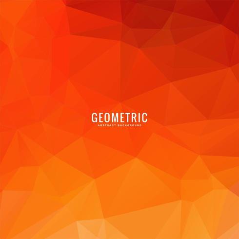 Fundo geométrico de polígono laranja