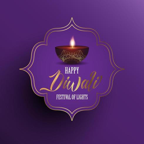 Sfondo Diwali con lampada a olio decorativa