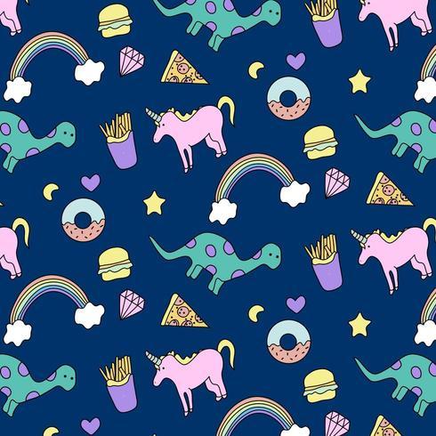 Patron De Unicornio Y Dinosaurio Descargar Vectores Gratis Illustrator Graficos Plantillas Diseno Unicornio es una traduccin errnea. illustrator graficos plantillas