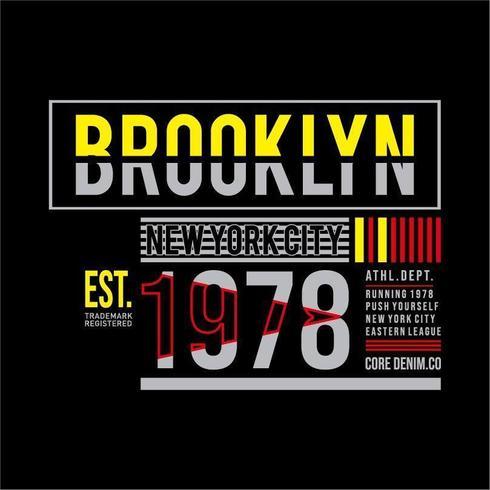 Tipografía de Brooklyn para la camiseta