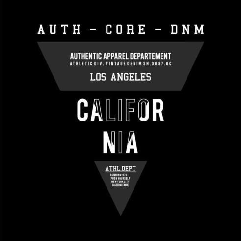 Design triangolo California per stampa t-shirt