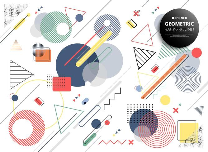 Abstraktes buntes geometrisches Memphis-Muster