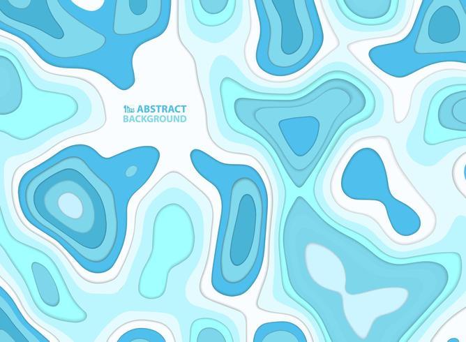 Padrão de formas onduladas de água azul abstrata