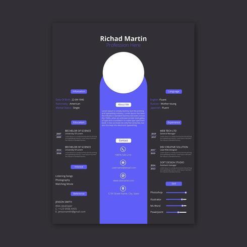 Retomar modelo de design vetor