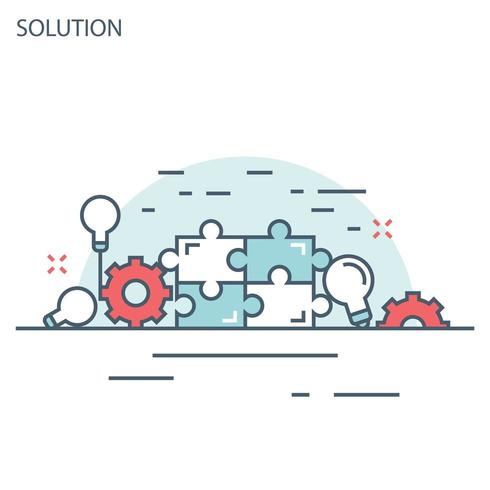 Solutions and ideas fine line banner
