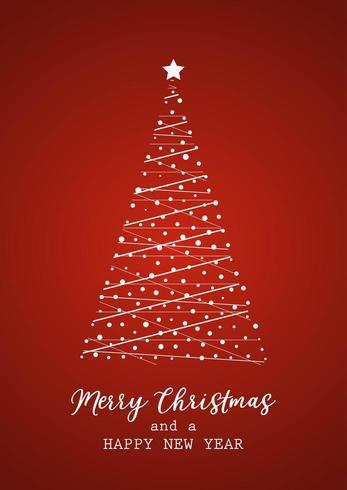 Albero di Natale Card e felice anno nuovo