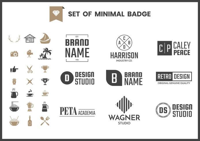 Uppsättning av moderna minimalistiska logo-märken