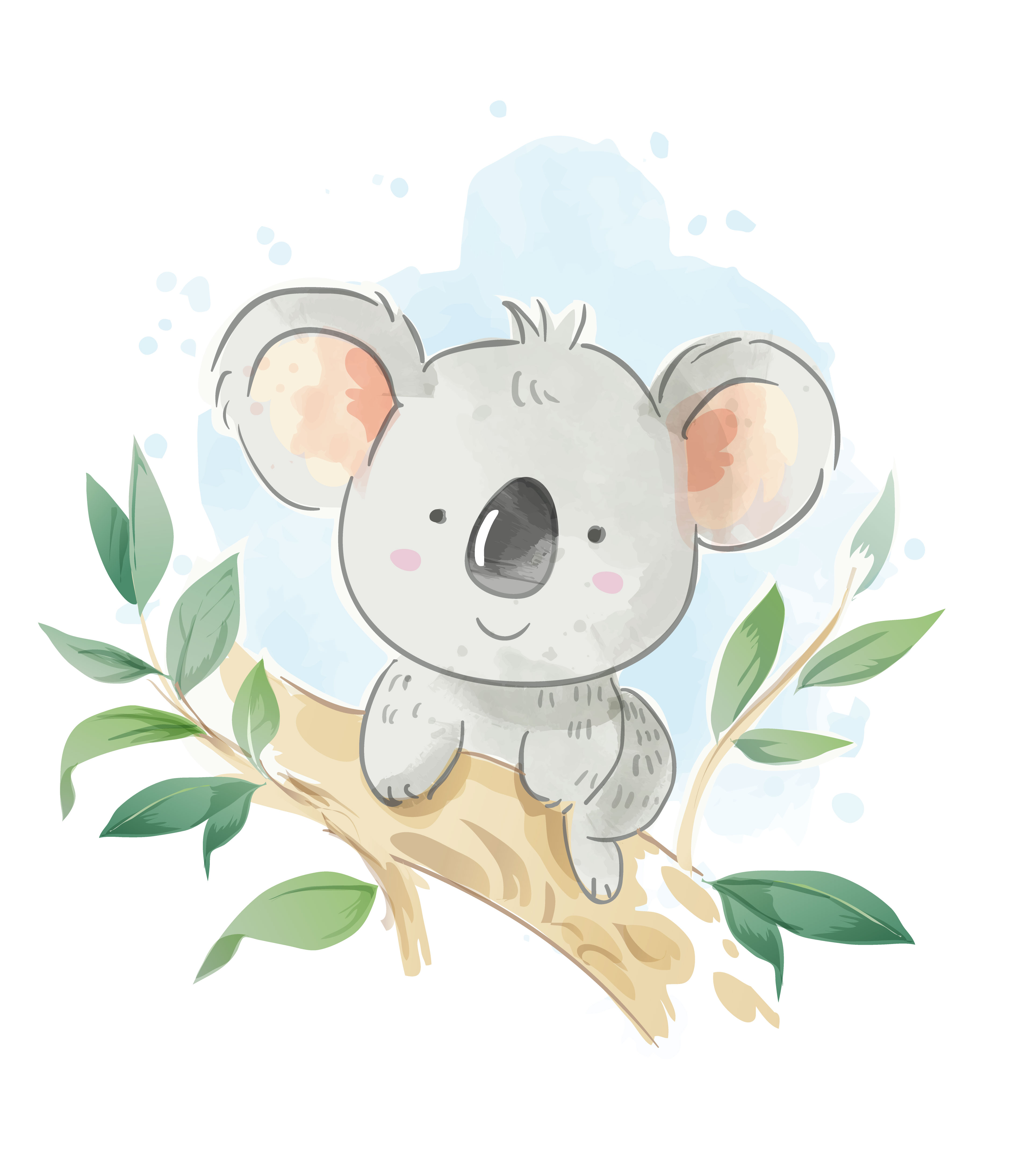 Cartoon Koala Sitting On The Tree Branch Illustration Download Free Vectors Clipart Graphics Vector Art I had to google it to make sure of what they. vecteezy