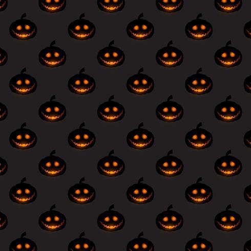 Fondo de patrón de calabaza de Halloween vector