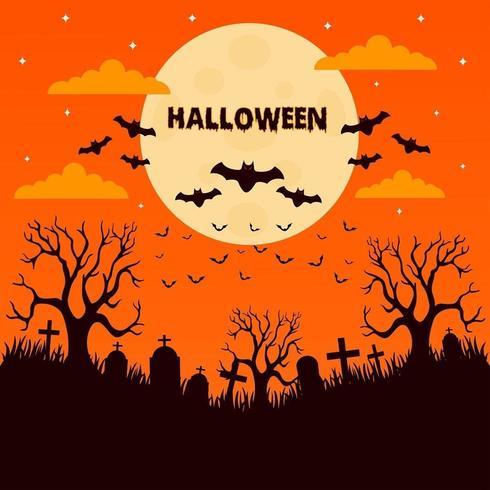 Notte di Halloween al cimitero