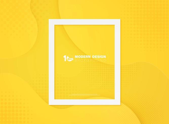 Fundo de forma gradiente de ponto amarelo mínimo abstrato vetor