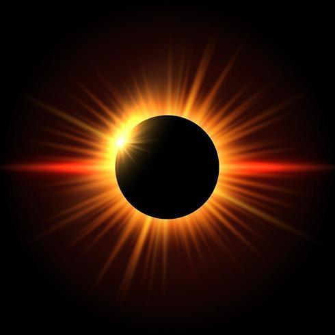 Sfondo di eclissi solare