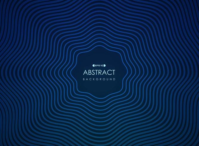 Abstract wavy blue radiating lines futuristic pattern vector