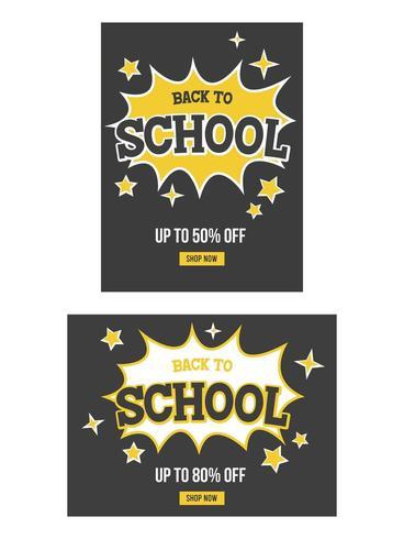 Volta ao cartaz de venda de escola
