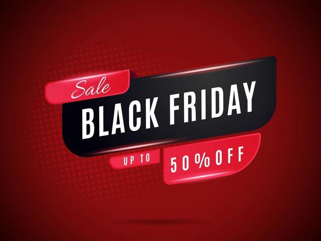 Schwarz und Rot Black Friday Sales Banner