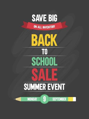 Save Big Back to school sale poster