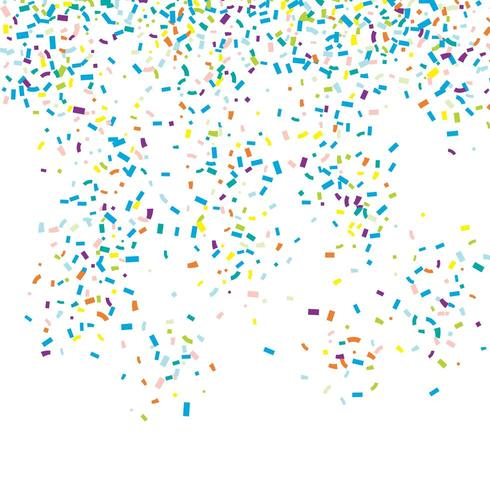 Falling confetti background