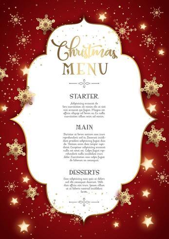 Decorative Christmas menu design vector