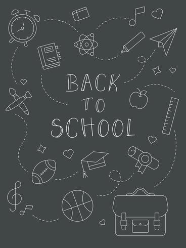 Chalk Board Back to school poster