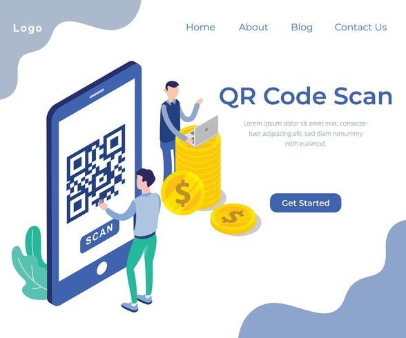 QR Code Scan isometrische Webseite