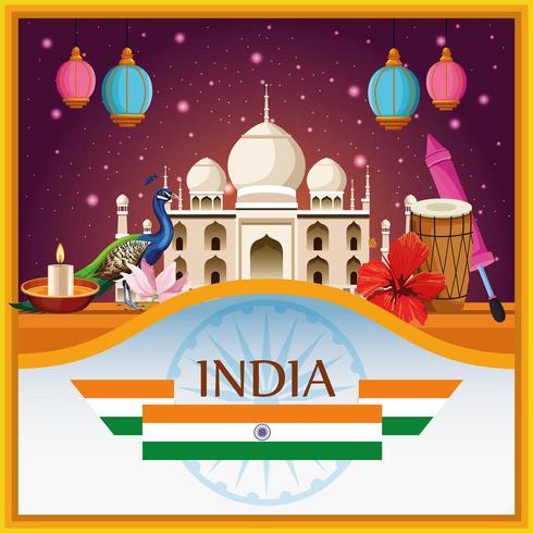 Indiens nationella landmärken och element