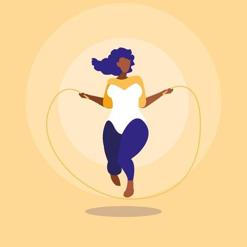woman exercising body positive power vector