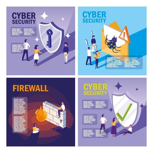 Stellen Sie Ikonen der Internetsicherheit ein