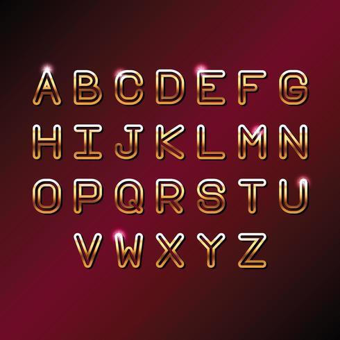 Alfabeto de letras VIP ORO