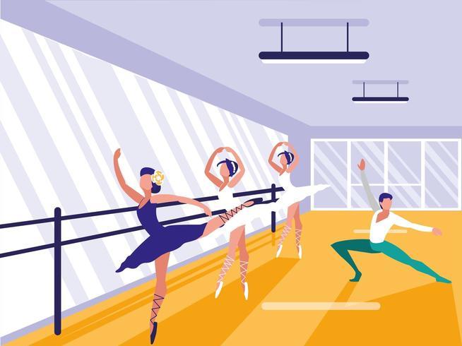 ballet school scene icon