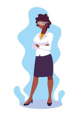 Ilustration di vettore dell'icona di progettazione del fumetto dell'avatar della donna di affari