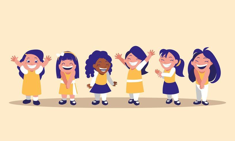personnage avatar mignon de petites filles