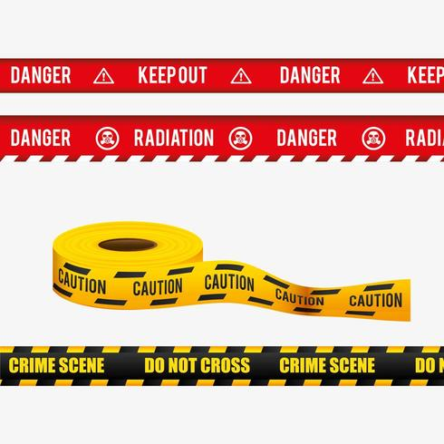 Caution tape set vector