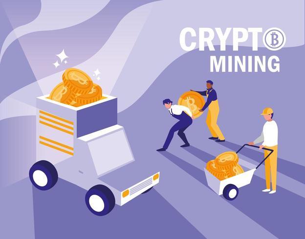 bitcoins de minería de criptomonedas vector