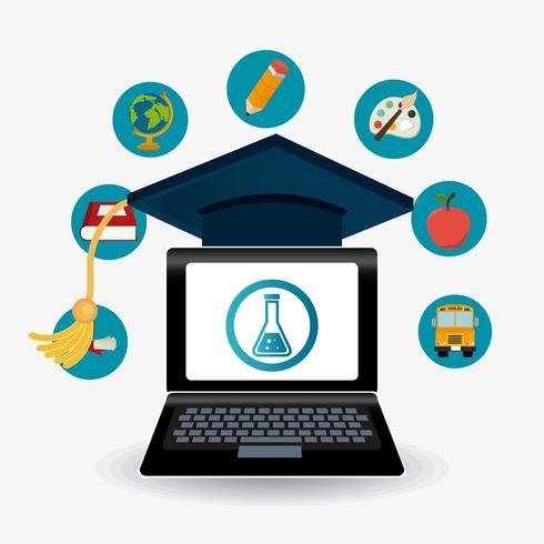 Iconos de graduación de estudiantes vector