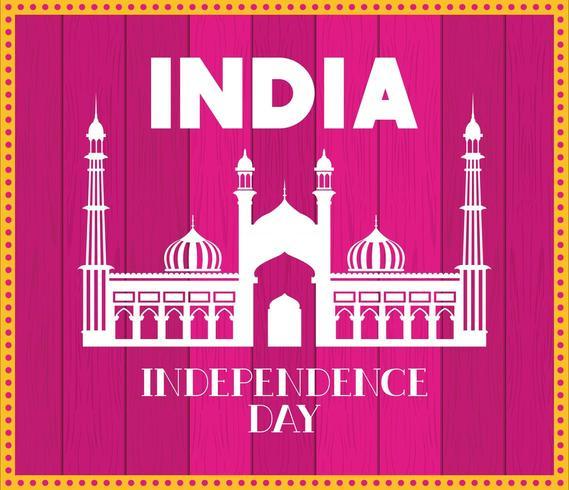 indisk jama masjid tempel med rosa bakgrund