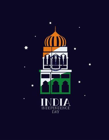 templo da mesquita indiana com cores da bandeira
