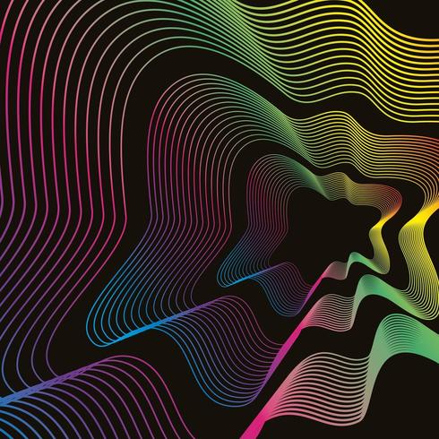 Fluid neon abstract background