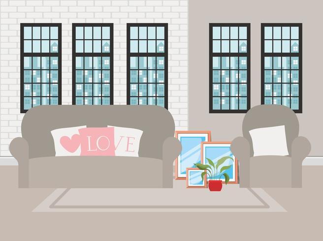 beautiful living room house scene