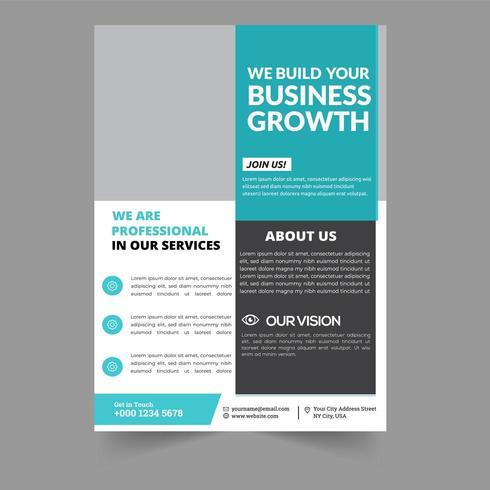 Corporate Flyer design Modello di brochure aziendale