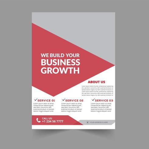Modello Brochure - Design rosso