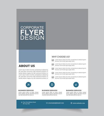 Progettazione volantino informazioni aziendali