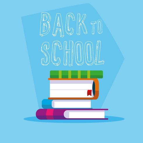 libros de regreso a la escuela vector